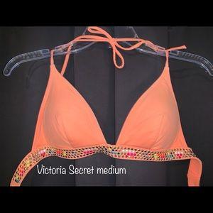 Victoria Secret Medium Swim Halter Push-up Top